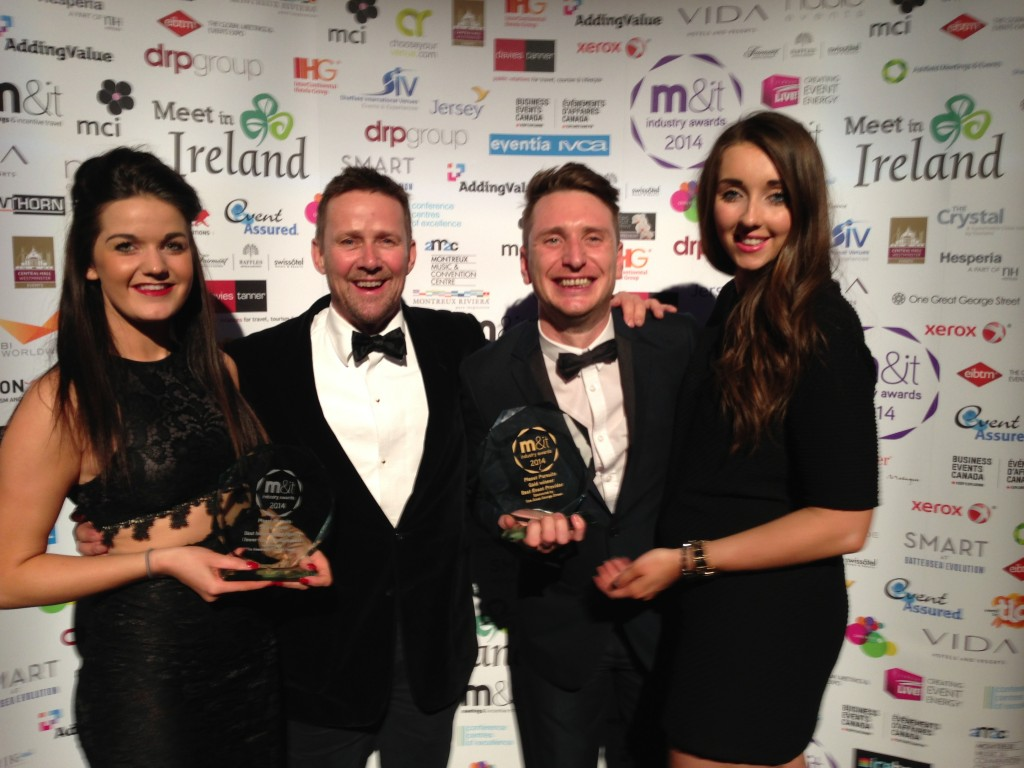 Planet Pursuits over the moon as it strikes gold and silver at meeting industry's top awards