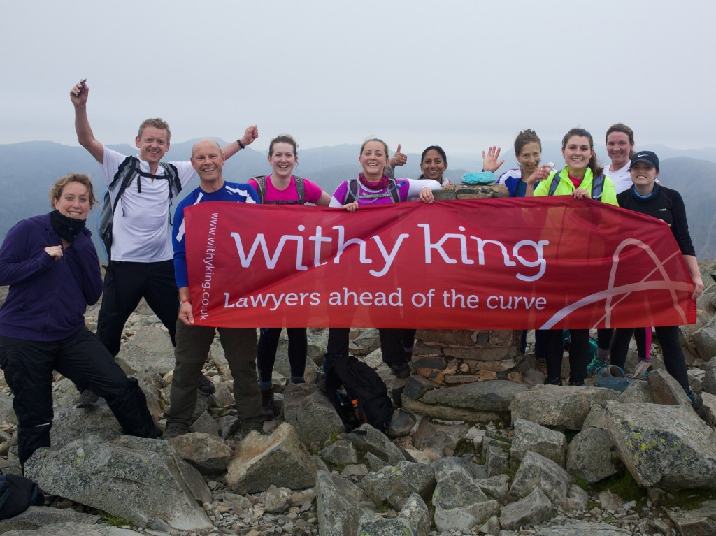 Peak performance from Withy King's Wiltshire lawyers takes firm's fundraising to new heights