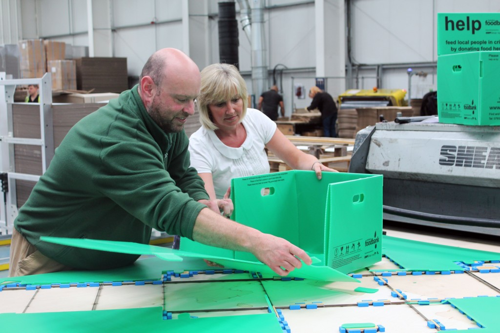 Swindon Foodbank boxes clever, thanks to packaging firm GWP