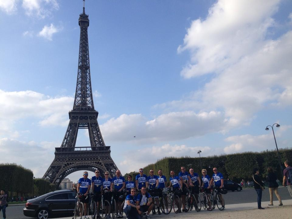 Swindon to Paris bike riders en route to bring in big haul for diabetes research