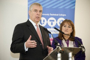 Duke of York makes return visit to UTC Swindon to officially open showpiece college