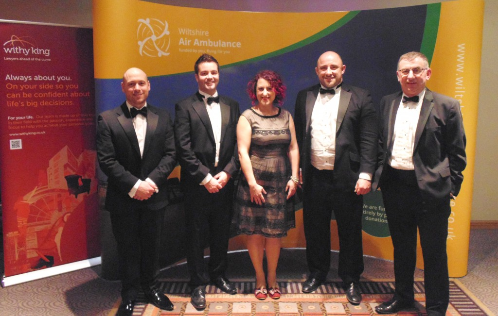 Wiltshire Air Ambulance lands £10,700 from Swindon business charity ball