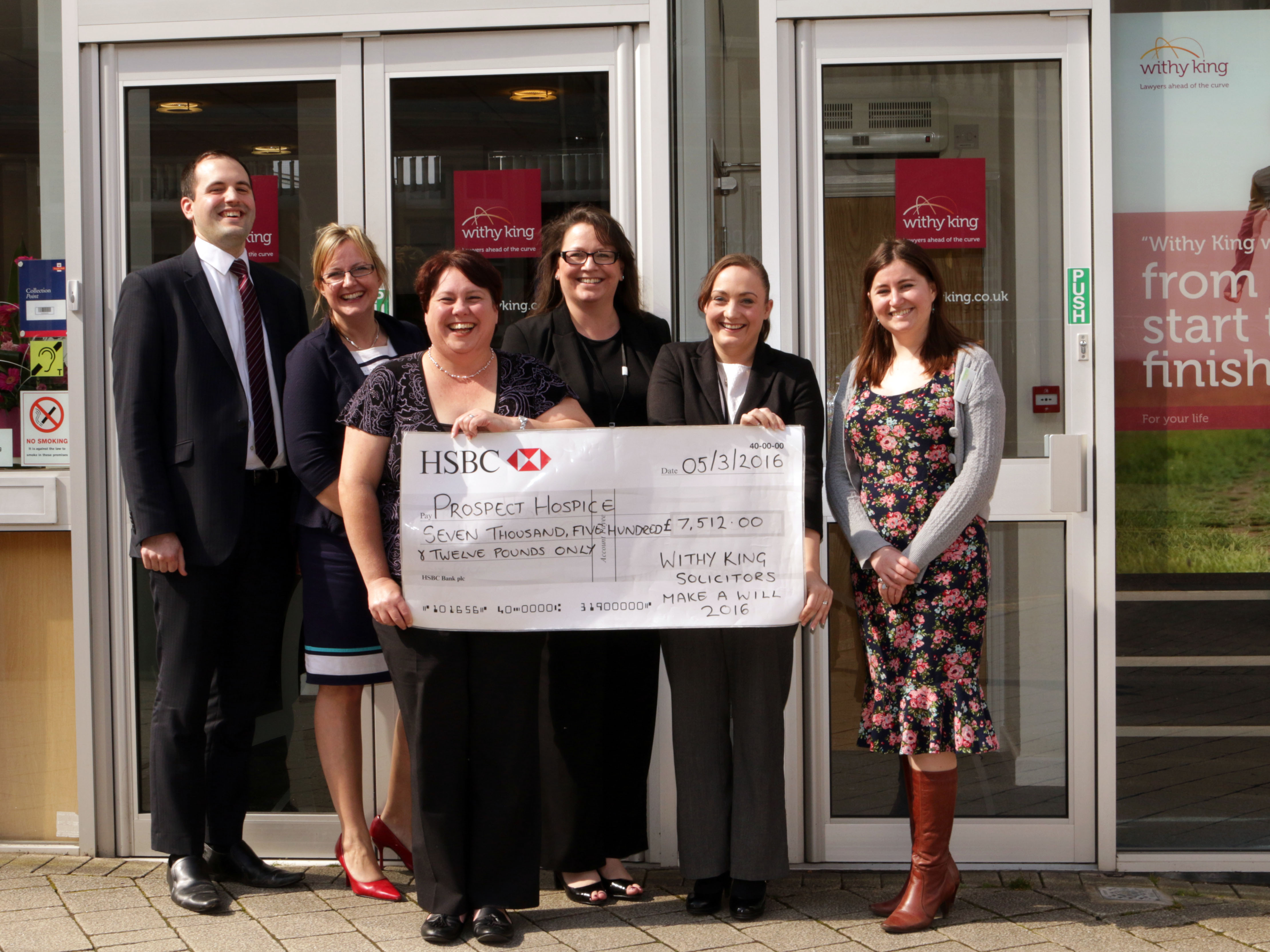 Prospect Hospice benefits to tune of £7,500 from Withy King's support for Make A Will Month