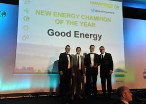 Green champion award celebrates Good Energy's powerful achievements