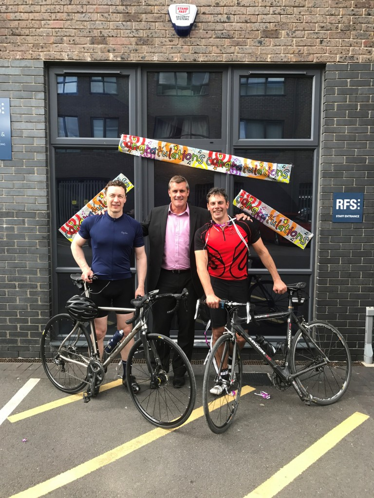 Bike-to-work quip leads to 86-mile charity ride for RFS colleagues