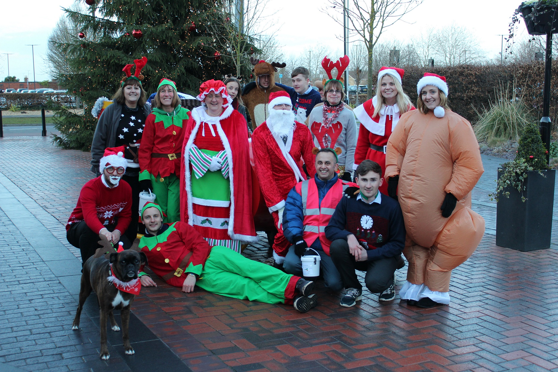 Santa sleigh-pull goes the extra mile to boost Beard's 125th anniversary charity drive